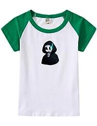 Unisex Infantiles Camisetas ImpresiÓN Undertale Remeras Patchwork Túnica Cuello Redondo Mangas Cortas Camisas Cómodo Poleras Ocasionales