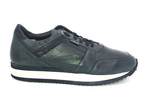 Exton 558 bosco scarpa uomo sneaker running made in italy pelle fondo leggero verde