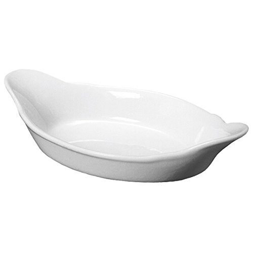 Royal Genware Oval Eared Dish 16.5cm | White Dish, Porcelain Dish | Commercial Quality Tableware by Royal Genware