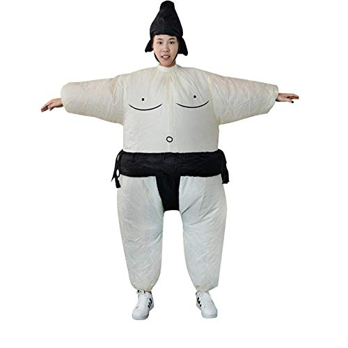 Fat Suit Womens Kostüm - HoganeyVan Fan Aufblasbare Sumo Kleid Neuheit Fat Man und Woman Suite Fat Masked Suit Fancy Blow Up Kleid Wrestler Kostüm