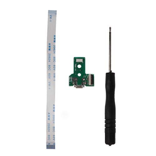 Dashun Leiterplatte Slim USB-Ladeplatte Controller Socket Port JDS-030 12 Pin Flexibles Netzkabel Ersatzteile Für Sony Playstation 4 PS4 Controller Slim-port