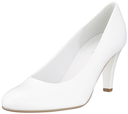 Gabor Shoes Damen Basic Pumps, Weiß (Weiss+Absatz), 36 - Leder Pumps