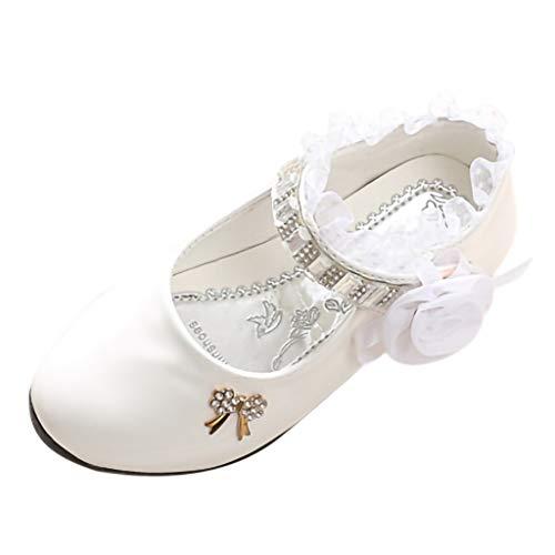 Kinder MäDchen, GroßE Kinder, Strass, Blumen, Spitze, Tanzschuhe, Prinzessin Schuhe, Einzelne Schuhe,Kinder Kleinkind Schuhe Infant Baby MäDchen Kristall Leder Einzelne Schuhe Party Single Schuhe -