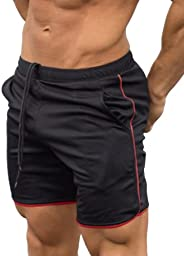 KAYIL Men's Gym Workout Boxing Shorts Running Short Pants Fitted Training Bodybuilding Jogger S