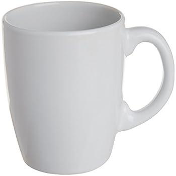 Excelsa Trendy Mug, Ceramica, Bianco, 8 x 11 x 11 cm