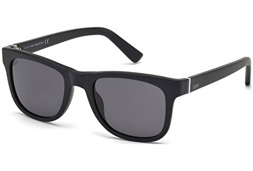 Occhiali da sole polarizzati tod's to0164 c52 02d (matte black / smoke polarized)