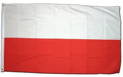 XXL Flagge Fahne Polen 150 x 250 cm (Polnische Flagge)