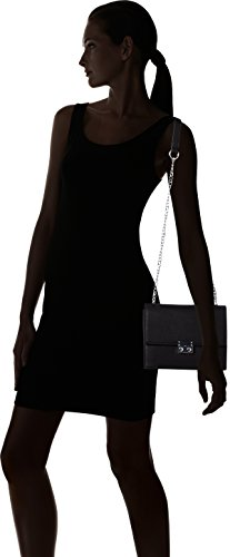 PIECES Damen Pcjune Cross Body Umhängetasche, 9 x 17 x 21 cm Schwarz (Black)