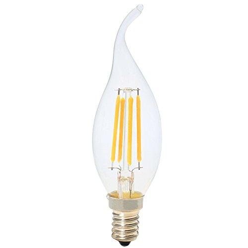 5x LED Kerzenbirnen E14 Filament Dimmbar 4W,Warmweiß 2700K,Klar Glas,Ersetzt 30 Watt Glühlampe,AC 220V