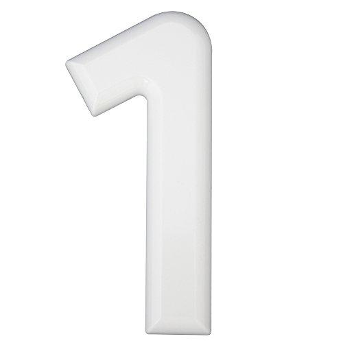 Numeri Civici In Plastica.Hsi Numero Civico 1 Plastica Bianco 160 Mm 1 Pezzi 688100 0