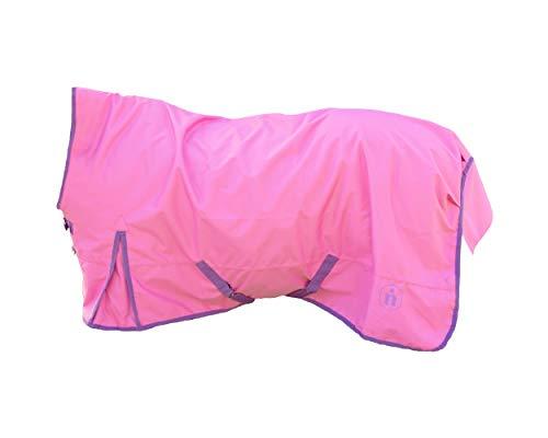 indira Pferdedecke-Winter pro 400g Wasserdicht Ripstop 1200d high-Neck (135 cm, Pink 01 - Violett 01)