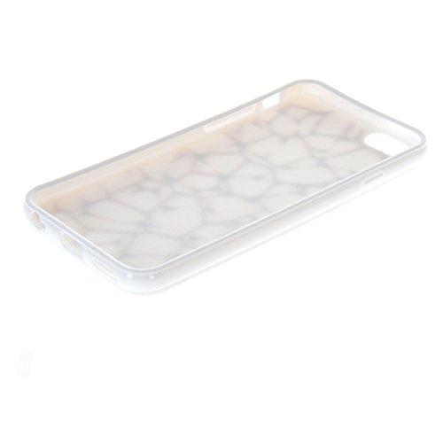 MOONCASE Gel TPU Silicone Housse Coque Etui Case Cover pour Apple iPhone 6 ( 4.7 inch ) Blanc 01