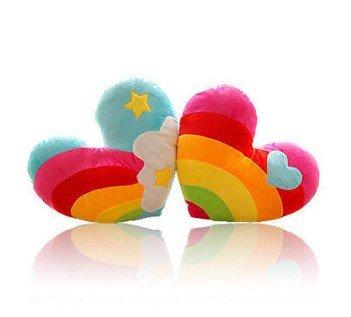 Preisvergleich Produktbild 40 * 30 cm, Cartoon-Stil Regenbogen Plüsch Arme Kissen / Lendenkissen , 2er-Set (Die Lieferzeit dauert 14 bis 18 Tage)