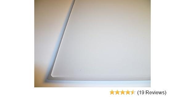 B/&T Metall PMMA Acrylglas Opal Wei/ß glatt 3,0 mm stark Milchglas Lichtdurchl/ässigkeit 78/% UV best/ändig beidseitig foliert im Zuschnitt Gr/ö/ße 30 x 100 cm 300 x 1000 mm
