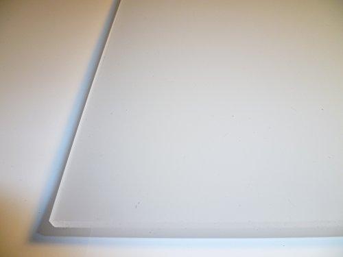 B&T Metall PMMA Acrylglas Opal Weiß glatt 3,0 mm stark Milchglas Lichtdurchlässigkeit 78% UV beständig beidseitig foliert im Zuschnitt Größe 25 x 50 cm (250 x 500 mm)