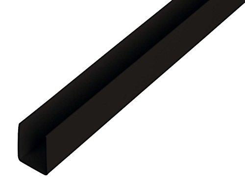 GAH-Alberts 484606 U-Profil - Kunststoff, schwarz, 1000 x 18 x 10 mm