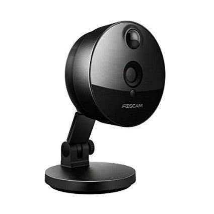 Foscam C1 + 8GB_ 2WLAN-IP-Kamera, HD, 720p, für drinnen, Schwarz, 1Megapixel (Foscam Ip Cam)