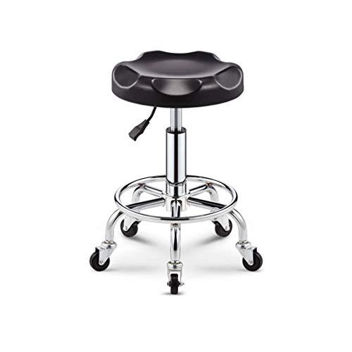 RMXMY Kleiner Drehstuhl klein klein Freizeit kreativ Einstellbare Rotation hochbeiniger Stuhl Bar Bar anhebbarer atmungsaktiver Friseurstuhl (Farbe : A)