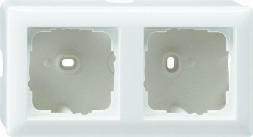 Gira 006227 Aufputz Gehäuse 2 Fach Standard 55, reinweiß matt - Steckdose Gehäuse