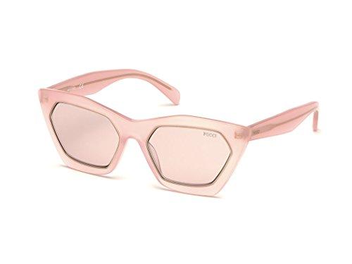 Emilio pucci ep0094 72y 54, occhiali da sole unisex adulto, rosa luc\viola