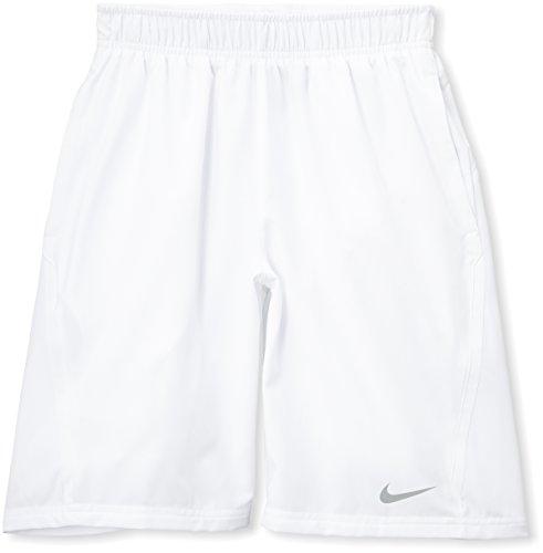Nike short pour garçon nET Blanc - Blanc/argenté mat