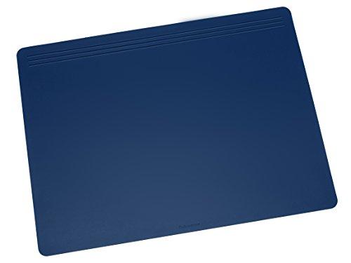 Läufer 32605 Matton Schreibtischunterlage 40x60 cm, blau, rutschfeste Schreibunterlage für besonders hohen Schreibkomfort, hochwertiger Vlies auf der Rückseite