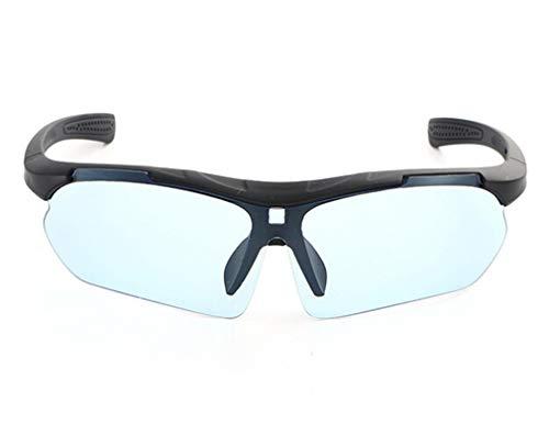 Daesar Sonnenbrille Schwarz Hellblau Outdoor Brille Herren Schutzbrille Rotlichtlampe