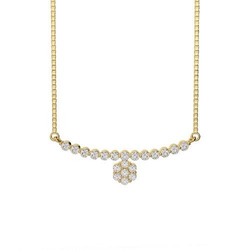 Or blanc/or jaune/Platine Diamant Collier avec chaîne ims-1756-vsgh