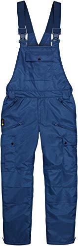 normani Winter Herren Thermo Latzhose, gefüttert, Wind- und wasserdicht, 6 Reißverschlusstaschen Farbe Navy Größe M