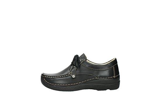 Leder Comfort Wolky Noir Seamy Lacets 300 Chaussures À Stroll 6xnRHqU