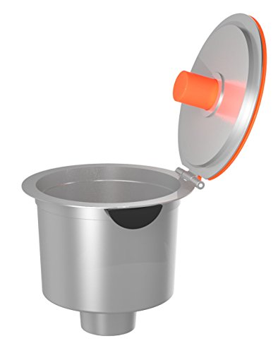 "Mind Reader ""Keen"" Metal Reusable Single Serve Coffee Pod, 2.0 Compatible, Silver 31gE6chQnpL"