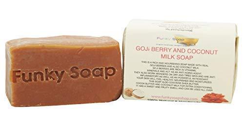 Funky Soap Goji Beere & Kokosnuss Milch Seife 100% Natürlich Handgemacht, 1 bar Of 120g -