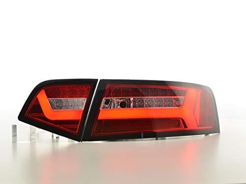 Feux arrière LED pour Audi A6 4F berline année de Construction 08-11 Rouge/Transparent