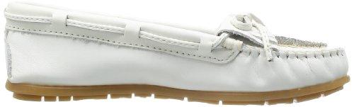 Minnetonka Beaded Kilty Moc 634 Damen Mokassins Weiß (White)