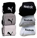 #3: Reebok Unisex Solid Ankle Length Socks (Pack of 6)