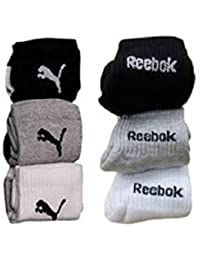 Reebok Unisex Solid Ankle Length Socks (Pack of 6)