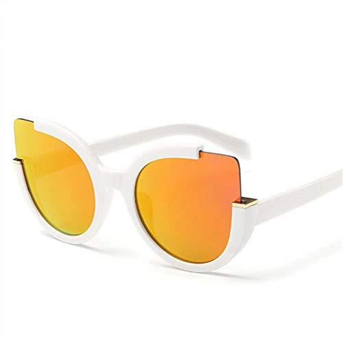 TIANKON Nette Katzenauge-Sonnenbrille für Frauen-Markendesigner-Sonnenbrille-große Größen-Damen-große Sonnenbrille-Rahmen Cateye Glasses Eyewear,A3