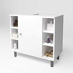 OSKAR VICCO Fynn - Armario para Lavabo, Armario de baño, Armario para Lavabo, Armario para Debajo del Lavabo (Blanco)