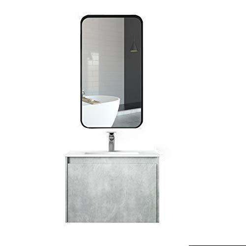SNOLEK Nordic Moderne intelligente Badezimmerschrankkombination 80CM + gewöhnlicher Spiegel 80
