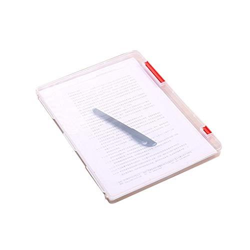 Demino A4 File Storage Box durchsichtiger Kunststoff Document Cases Desk Papier Veranstalter rot (Boxen File-storage Kunststoff)