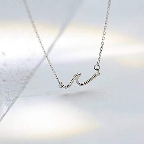 Katylen Frauen 925 Silber Halskette Frische Ganze Körper S925 Sterling Silber Welle Halskette Weibliche Persönlichkeit Schlüsselbein Kette Einfache Temperament Schmuck, Silber - Körper-welle Farbe