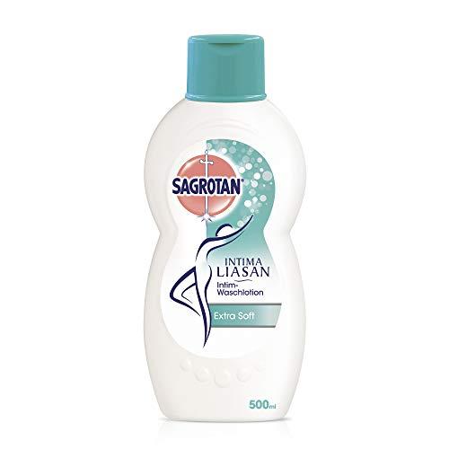 Sagrotan Intima Liasan Intim-Waschlotion Extra Soft - Sanfte Intim-Pflege mit Mandelmilch - Ohne Alkohol, Seife und Farbstoffe - 1 x 500 ml