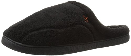Dockers Mens Paul Microterry Clog Scuff Slipper Black
