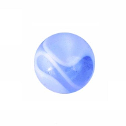 eeddoo Piercingkugel Wirbel Design Weiss/Schwarz Acryl Gewinde: 1,2 mm 2,5 mm -