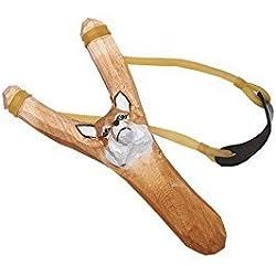Juguetutto - Tirachinas Zorro. Tirachinas de madera en color marrón con forma de zorro