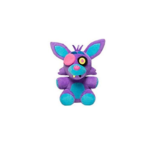 Five Nights At Freddys - Foxy Nightmare Neon Blacklight Plush - Purple - 10cm 4""