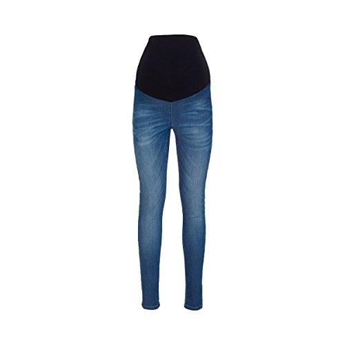 2HEARTS Umstands-Jeans Jeggings Denim blau/Umstandshose/Schwangerschaftshose/Damen Umstandsmode/Jeans für werdende Mamas