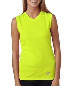 New Balance Damen-ndurance Athletic V-Ausschnitt Workout T-Shirt-Sicherheit Grün-XL -