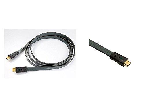 audioquest flach hdmi-g Kabel-HDMI-Stecker 6,0-Meter (19,68-Füße) PVC-Kabel (Off Weiß) -