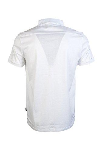 Hugo Boss Herren Legere Shirts Freizeit-Hemd, Kein Muster blau blau XXL Weiß